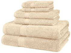 Pinzon Egyptian Cotton 6-Piece Towel Set, Cream Pinzon by Amazon.com http://www.amazon.com/dp/B002S52ZFI/ref=cm_sw_r_pi_dp_IqK-ub0M6V5M1
