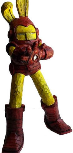 'Ironman' by Southerndrawl for '5th Annual Blamo Show' opening soon at Toy Art Gallery