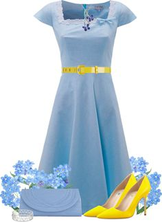 """Forget-Me-Nots"" by lmm2nd on Polyvore"