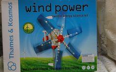 WINDPOWER RENEWABLE ENERGY SCIENCE KIT THAMES  KOSMOS NIB