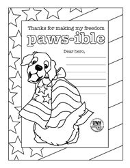 Operation Write Home. Coloring pages, write a letter or