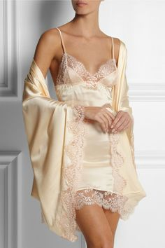 Agent Provocateur Abbey Lace-Trimmed Slip