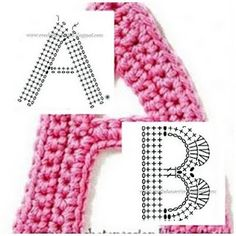 The alphabet in crochet with clear charts :)