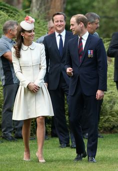 Pin for Later: The Duchess of Cambridge Is Champion of the Match Game The Duchess of Cambridge at St. Symphorien Military Cemetery And while William may be her finest accessory, his rich suiting was no match for the loveliness of Kate's neutral ensemble.