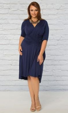 3f40fc3303d Check out the deal on Refined Ruched Dress at Kiyonna Clothing Ruched Dress