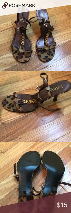 NWOT Animal print shoes -size 8M Cute Latina life brand animal print heels, size 8M Latina Life Shoes Heels