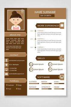 Your resume is one of your best marketing tools. The goal of your resume is to tell your individual story in a compelling way that drives prospective employers to want to meet you. Portfolio Web, Portfolio Resume, Design Portfolio Layout, Creative Cv Template, Resume Design Template, Free Cv Template Word, Design Social, Web Design, Design Ideas