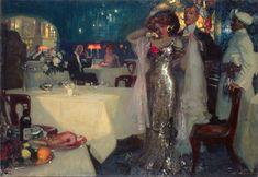 Charles Hoffbauer- In the restaurant - 1907