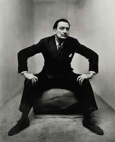 Salvador Dalí, New York, 1947. Courtesy of The Irving Penn Foundation.