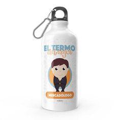 Termo - El termo del mejor mercadólogo, encuentra este producto en nuestra tienda online y personalízalo con un nombre. Water Bottle, Drinks, Carton Box, Store, Crates, Drinking, Beverages, Water Bottles, Drink