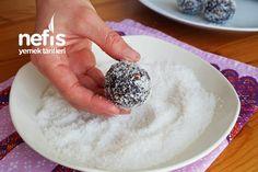Mozaik Topları (videolu) - Nefis Yemek Tarifleri Baklava Cheesecake, Oatmeal, Pudding, Cookies, Breakfast, Desserts, Food, Pizza, Diy