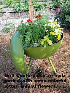 Centerpiece idea for 'Father's Day Garden'