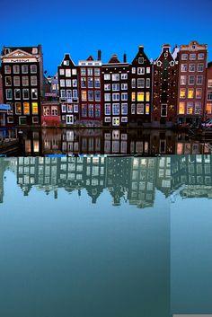 Amsterdam Reflection at Night