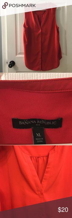 Button down sleeveless Banana Republic shirt Button down Sleeveless Banana Republic top. Dark orange. Only worn once. Banana Republic Tops Button Down Shirts