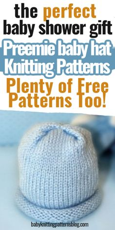 Baby Hat Knitting Patterns Free, Baby Hat Patterns, Baby Hats Knitting, Crochet Baby Hats, Knitted Hats, Booties Crochet, Knit Patterns, Free Knitting, Free Pattern