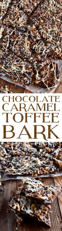 Chocolate Caramel Toffee Bark