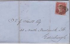 1853 QV EDINBURGH WRAPPER WITH 1d PENNY RED IMPERF STAMP & RED ASSURANCE SEAL    eBay