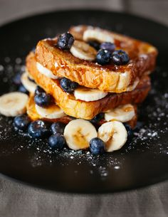 I'm craving French toast this morning.  Adding bananas and blueberries with whole grain bread makes it a healthy choice!  What's for your Sunday morning breakfast? www.thefitfilledlife.com?utm_content=buffer2d820&utm_medium=social&utm_source=pinterest.com&utm_campaign=buffer