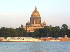Isaac's Cathedral in St. Peter And Paul Cathedral, City Outline, Russian Architecture, Taj Mahal, Building, Places, Travel, Pictures, Viajes