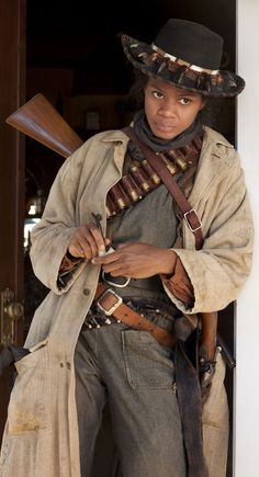 Kimberly Elise as the heroic African American cowgirl of the old west - Stagecoach Mary Fields. Black Steampunk brings backs alot of forgotten history!