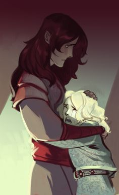 melkorwashere:      sketch of Maeglin with little Earendil . . . I think the shadow of Melkor is tormenting Maeglin between the betrayal and the siege. Earendil sees that something is wrong with Maeglin, and badly wants to comfort him. But since Maeglin won't tell him what's going on, Earendil begins crying for him, and this makes the guilt Maeglin's feeling even worse.