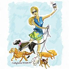 It's the leash we could do. Lilly Pulitzer Prints, Lily Pulitzer, Life Is Ruff, Cute Illustration, Illustrations Posters, Cute Art, Fur Babies, Artsy, Sketches