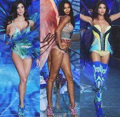 "Sara Sampaio, Laís Ribeiro And Daniela Braga for segment ""Exotic Butterflies "" at VS Victoria's Secret Fashion Show vsfs 2015 - december/ in NYC"