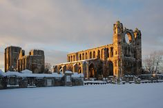 Lovely pic of Elgin Cathedral in the snow by Chris Sharratt. #Scotland #history #explore