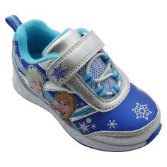 Toddler Girls' Frozen Athletic Sneakers - Silver