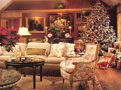 French Country design by Charles Faudree at Christmas