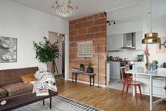 apartamento sueco tonos calidos