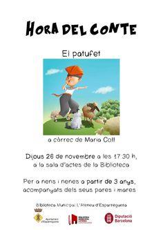 """Hora del Conte """"El patufet"""", a càrrec de Maria Coll"""