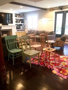 Sweet Pickins - mismatched chairs