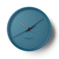 'hk wall clock - blue' by georg jensen