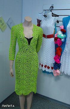 Fancy Crochet Dress. More Patterns Like This!