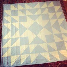 Blue Banks Star Patchwork Quilt on Etsy, $90.00