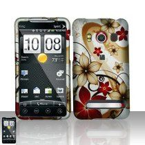 Importer520 offer Gold Red Flower Rubberized Snap on Design Rubberized Hard Case Faceplate for Sprint Htc Evo 4g. This awesome product currently limited units, you can buy it now for  , You save - New