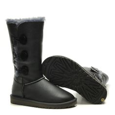 UGG 1873 Bailey Button Triplet Metallic Grey Boots