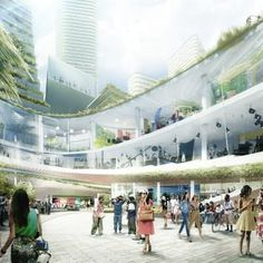 The planned Gateway Plaza of the Miami Innovation District