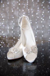 Imaani Zarah is made of delicate lace and satin, a perfect contrast to the statuesque diamante trim and bow. Heel measures with a hidden platform. Bridal Shoes, Wedding Shoes, On Your Wedding Day, Contrast, Peep Toe, Delicate, Platform, Satin, Bows