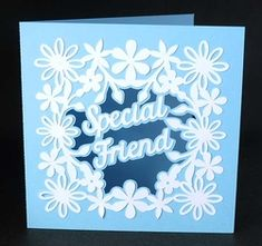 Special Friend Aperture Card on Craftsuprint - View Now! Studio Cards, Hand Made Greeting Cards, Cricut Cards, Pocket Cards, Get Well Cards, Butterfly Cards, Aperture, Cricut Design, Overlays