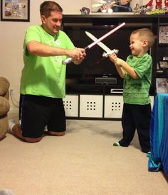 VP of Branches, Joe, sword fights with his son to raise money & awareness for Children's Hospital Colorado during the Miracle Marathon