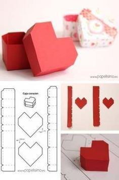 Trendy origami box diy paper hearts Trendy Origami Box DIY Papier Herzen The post Trendy Origami Box DIY Papierherzen appeared first on Valentines Bricolage, Valentines Diy, Diy Gift Box, Diy Box, Paper Hearts Origami, Origami Paper, Origami Folding, Origami Gift Box, Origami Boxes