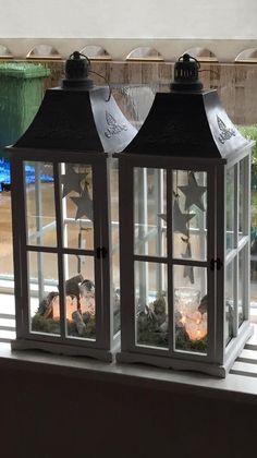 Kerst idee voor in lantaarn.