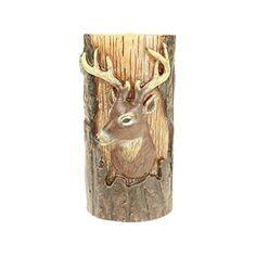 3x6 Embossed Deer Head Pillar Candle http://shop.crackerbarrel.com/Embossed-Deer-Head-Pillar-Candle/dp/B012572D3W