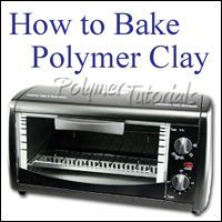 Lots of tips for baking polymer clay items, polymer clay beginner tutorial