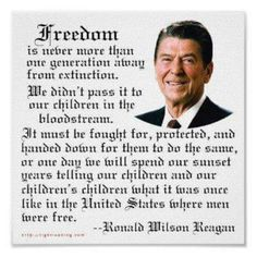 Shop Reagan Freedom Quote Poster created by rightleaning. Great Quotes, Me Quotes, Motivational Quotes, Inspirational Quotes, Wisdom Quotes, Ronald Reagan Quotes, President Ronald Reagan, News Logo, Freedom Quotes