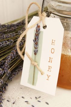 Recipe for lavender infused honey.