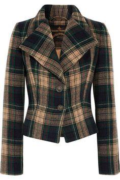 Vivienne Westwood Anglomania - Porta Tartan Wool-blend Jacket - Forest green