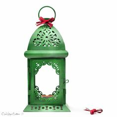 Unique Green Ombre Candle Lantern Centerpiece, St Patrick Home Decor, Filigree Metal Candle Holder